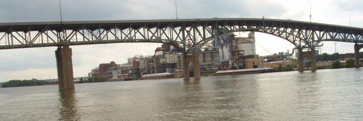 Cedar Street Bridge over Illinois River, Peoria, IL, IDOT District 4